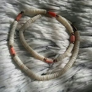 Jewelry - Coral and shell necklace